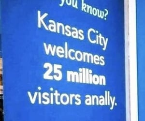kansas city, sign, and typo image