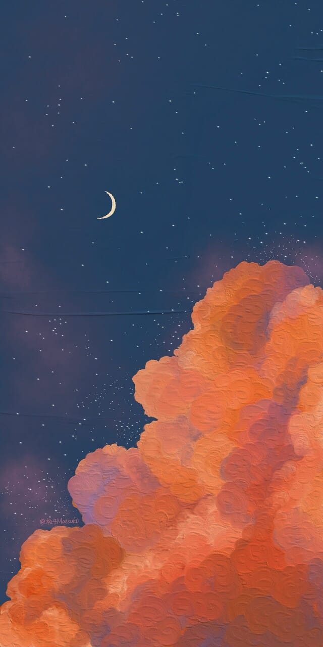 wallpaper, art, and moon image