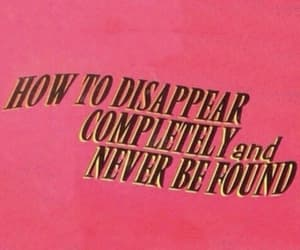 disappear, quotes, and pink image