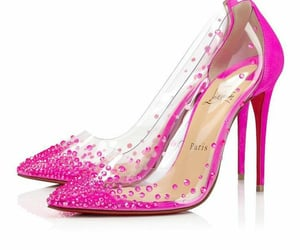 art, heels, and hot pink image