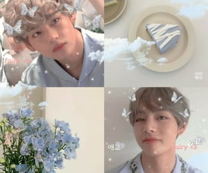 mood board, pastel blue, and psd image