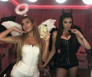 girl, angel, and Halloween image