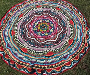 boho, home decor, and round rug image