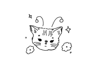 doodle, ios, and cat image