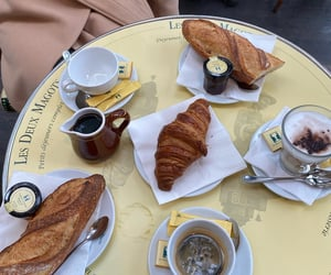 breakfast, croissant, and french image