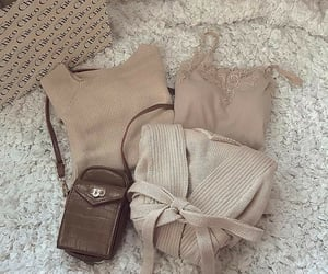 aesthetics, bag, and beige image