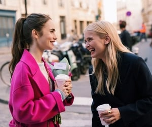 lily collins, netflix, and emily in paris image