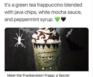 Halloween, starbucks, and Frankenstein image