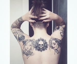 back tattoo, ink, and inked image