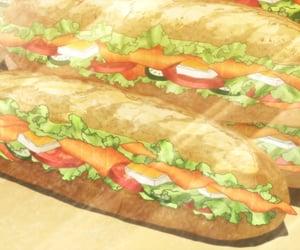 anime food, anime, and anime gif image