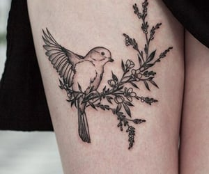 bird, tattoo, and ink image