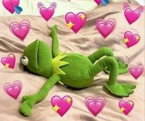 kermit and heart meme image