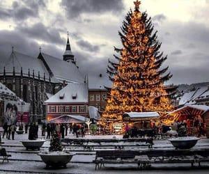 christmas, romania, and snow image