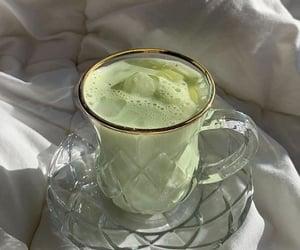 green, matcha, and drink image
