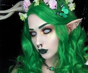 elf, halloween ideas, and elf makeup image
