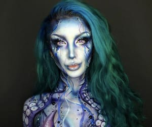 mermaid, mermaid makeup, and ‎mua‬ ‪ image
