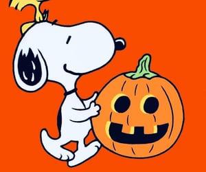 snoopy, Halloween, and woodstock image