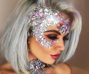 beautiful, girl, and glitter image