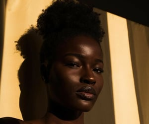 beauty, black, and model image