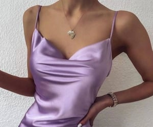 dress, fashion, and lila image