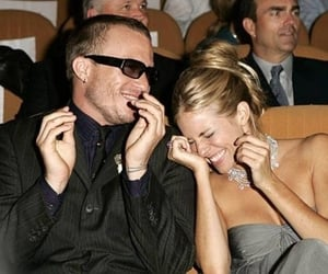 actor, heath ledger, and laugh image