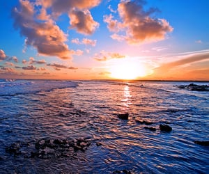 beaches, tropics, and sunrises image