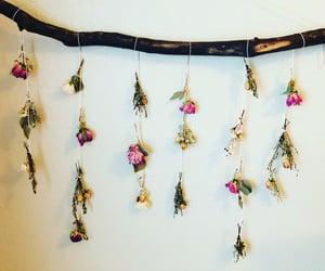 bedroom, dried flowers, and nursery image