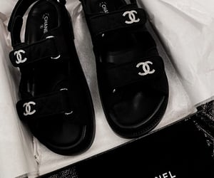 black and white, chanel, and diamond image