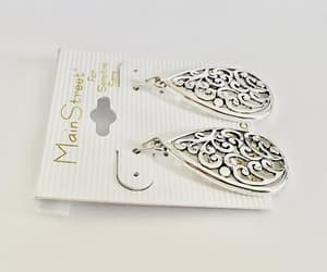 etsy, pierced earrings, and paisley design image