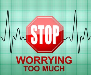 quotes, worry, and worrying image