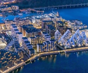 aerial photography, cities, and aarhus image