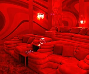 chairs, red, and seats image