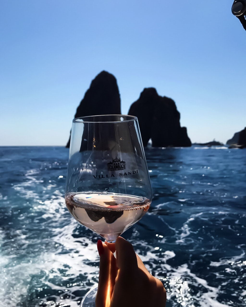 sea, wine, and drink image