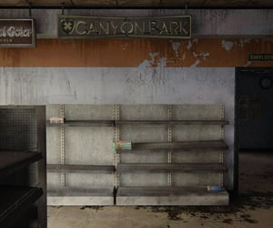 abandoned, gas station, and dystopian image