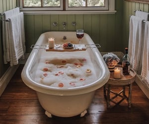 bath, bathroom, and calm image