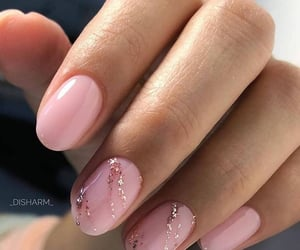 glitters, golden, and nail polish image