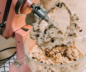 aesthetic, chocolate cookies, and baking image