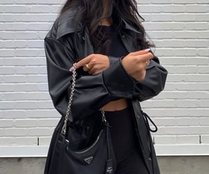 bag, aesthetic, and black image