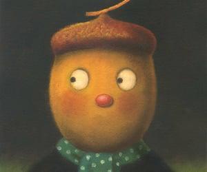 acorn, autumn, and fantasy image