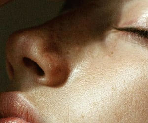 face, full lips, and nose image