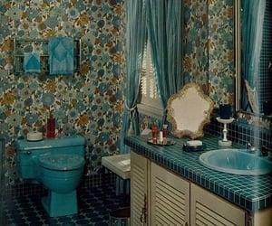 70s, retro, and bathroom image