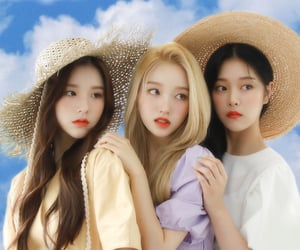 kim hyunjin, jeon heejin, and loona image