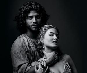 lucrezia borgia, black and white b&w, and renaissance lovers image