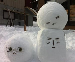 snow, white, and face image