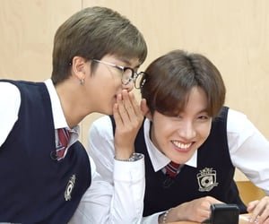 jhope, rm, and bts image