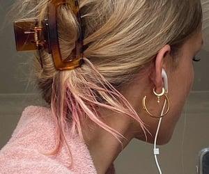 dye, earphones, and hairstyle image