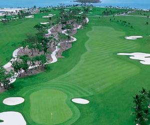 golf course, travel destination, and golfing image