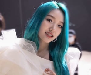 blue hair, kpop, and why not image