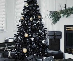 christmas, black, and decoration image