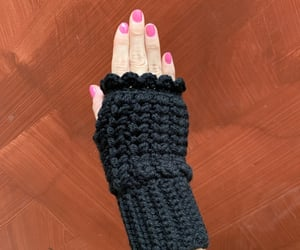 crochet, knit, and mittens image